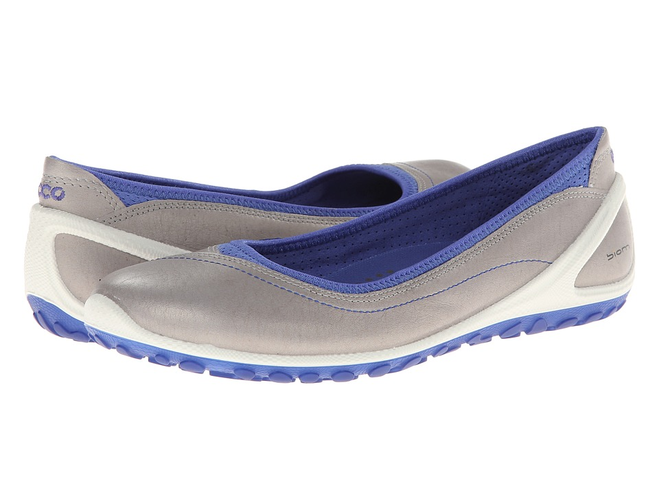 Ecco Performance - Biom Lite 1.2 Flat (Silver Grey/Baja Blue) Women's Slip on Shoes