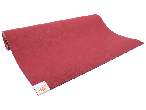 Gaiam - Gaiam Sol Shakti Rubber Yoga Mat (4mm) (Deep Red) Athletic Sports Equipment