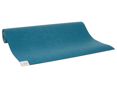 Gaiam - Gaiam Sol Shakti Rubber Yoga Mat (4mm) (Aqua) Athletic Sports Equipment