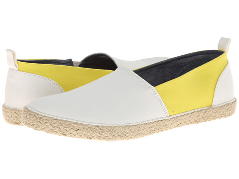 Generic Surplus - Slip On (White/Maize Canvas) Men