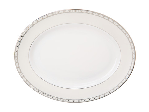 Kate Spade New York - Signature Spade 13 Oval Platter (White) Dinnerware Cookware