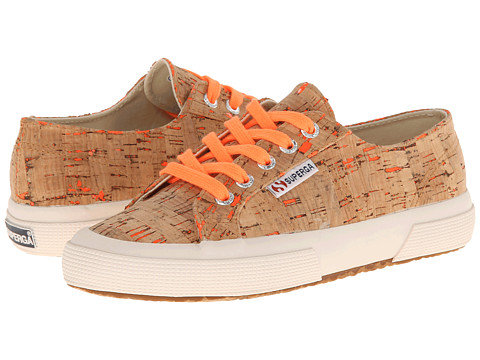 Superga - 2750 Neon Cork (Neon Orange) Women's Lace up casual Shoes