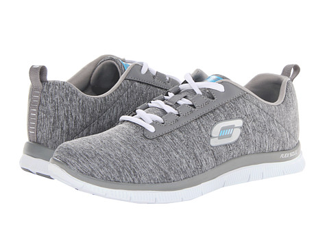 SKECHERS - Flex Appeal - Next Generation (Gray) Women's Lace up casual Shoes