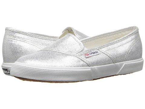 Superga - 2210 Lamew (Silver) Women's Slip on Shoes