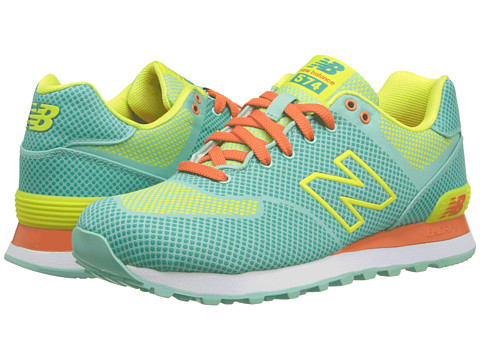 New Balance Classics - WL574 - Woven Pack (Aquamarine/Lemon Pop) Women