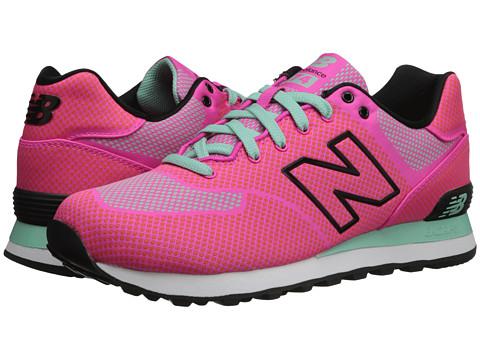 New Balance Classics - WL574 - Woven Pack (Pink Glo/Aquamarine) Women's Classic Shoes