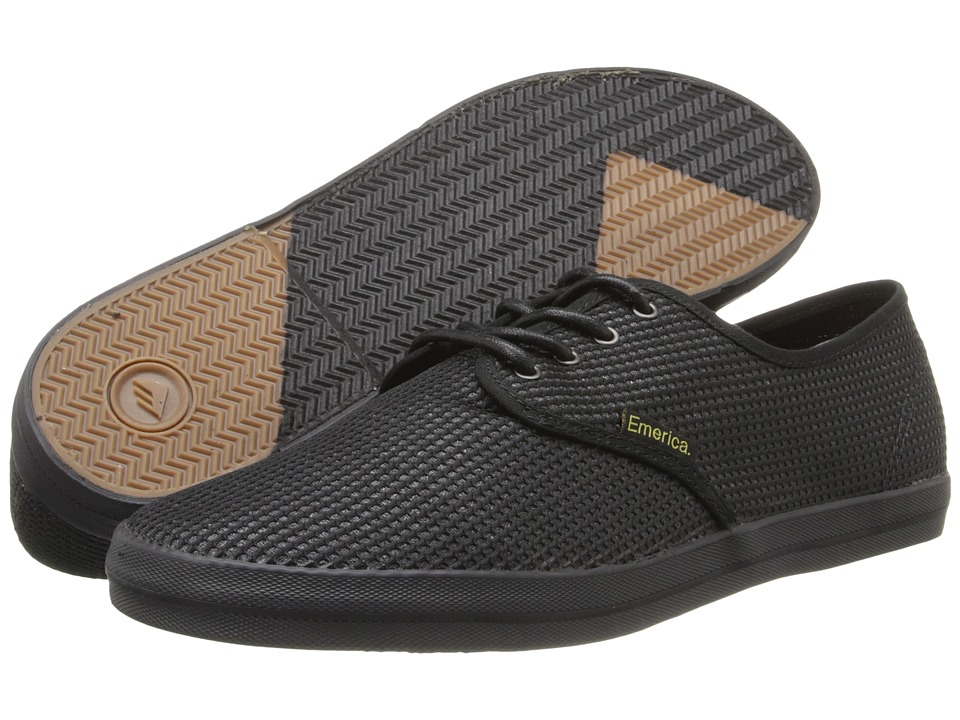 Emerica - The Wino (Black/Gold) Men's Skate Shoes