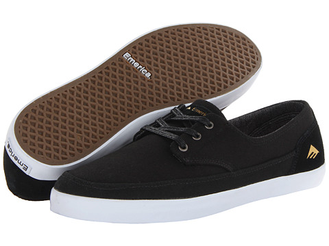 Emerica - The Romero Troubadour Low (Black/White) Men's Skate Shoes