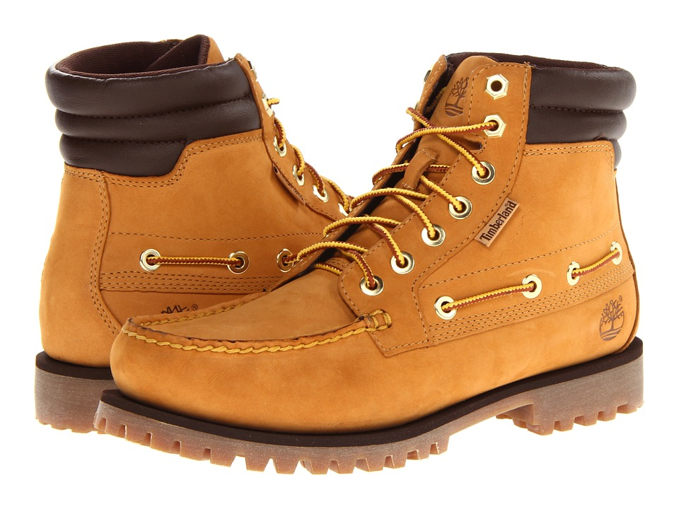 Timberland - 7-Eye Moc Toe (Wheat Nubuck) Men's Boots