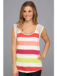SALE! $17.99 - Save $19 on Roxy Just Because Top (Sea Spray Multi Stripe) Apparel - 50.71% OFF $36.50