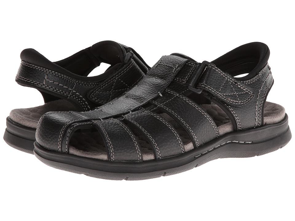 Dockers Marin (Black Tumbled Full Grain Leather) Men