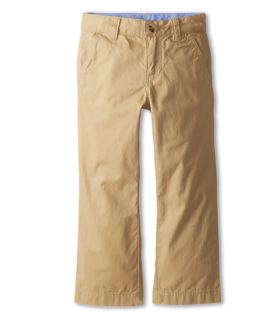 Lacoste Kids - Cotton Gabardine Flat Front Chino (Little Kids/Big Kids) (Light Coffee Macaroon) Boy's Casual Pants