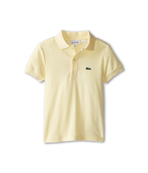 Lacoste Kids - Short Sleeve Classic Pique Polo Shirt (Toddler/Little Kids/Big Kids) (Pear Yellow) Boy's Short Sleeve Pullover