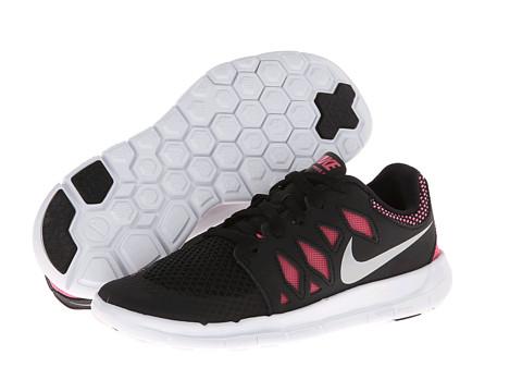 Nike Kids - Free 5 (Little Kid) (Black/Metallic Silver/Pink Glow/White) Girls Shoes