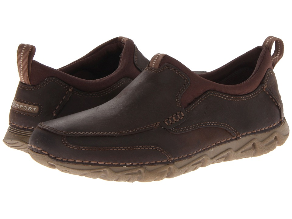 Rockport - RocSports Lite 2 Moc Slip On (Chocolate) Men's Slip on Shoes