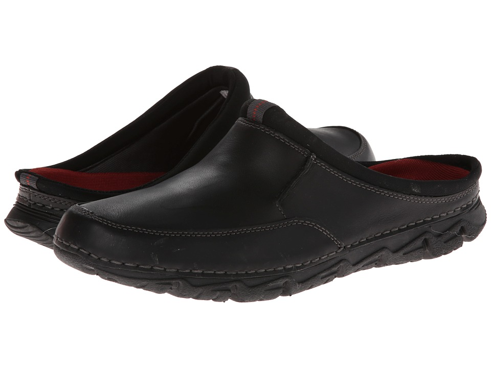 Rockport - Rocsports LT2 Mule (Black) Men's Slip on Shoes