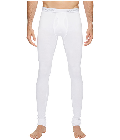 2(X)IST - Essentials Long Underwear (White) Men's Casual Pants