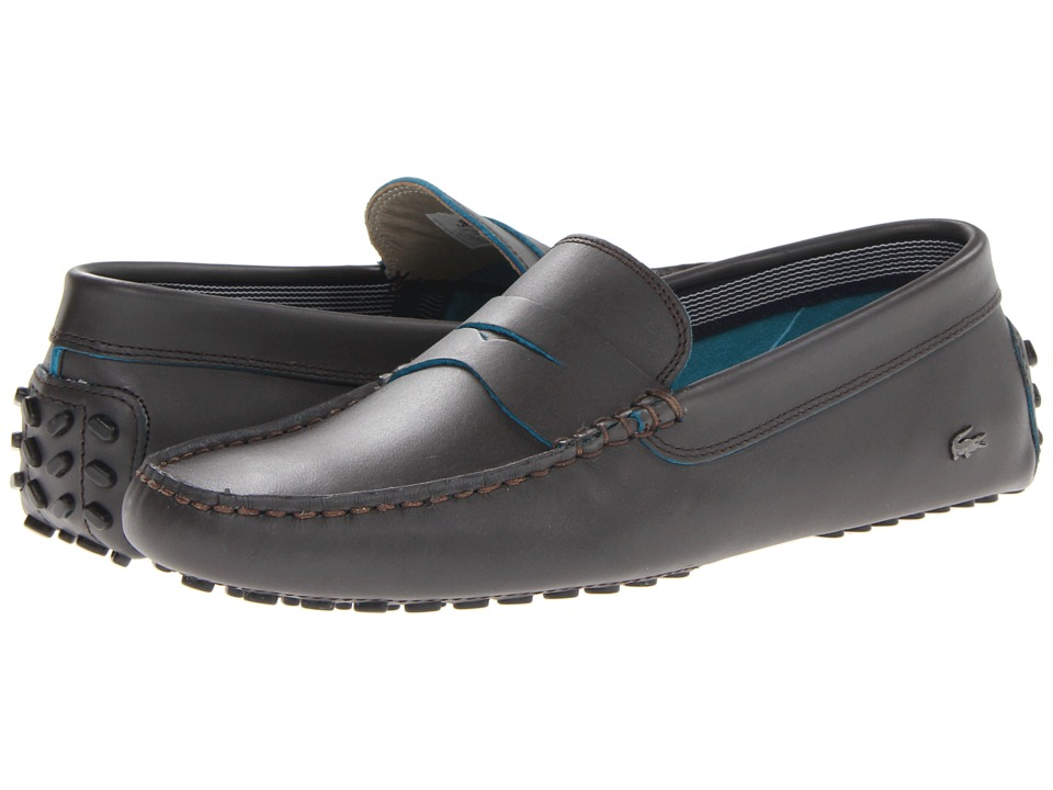 Lacoste - Concours 10 (Dark Brown) Men's Slip on Shoes