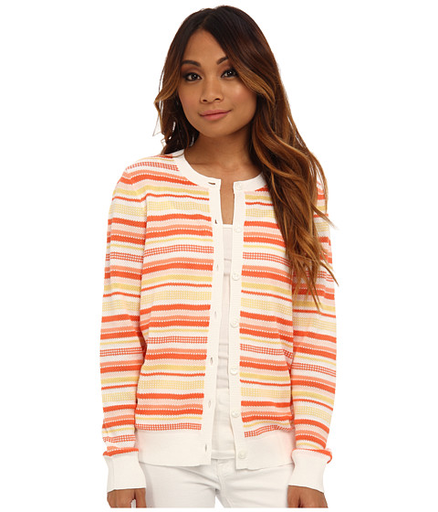 Pendleton - Petite Multi Stripe Cardigan (Warm Stripe) Women's Sweater