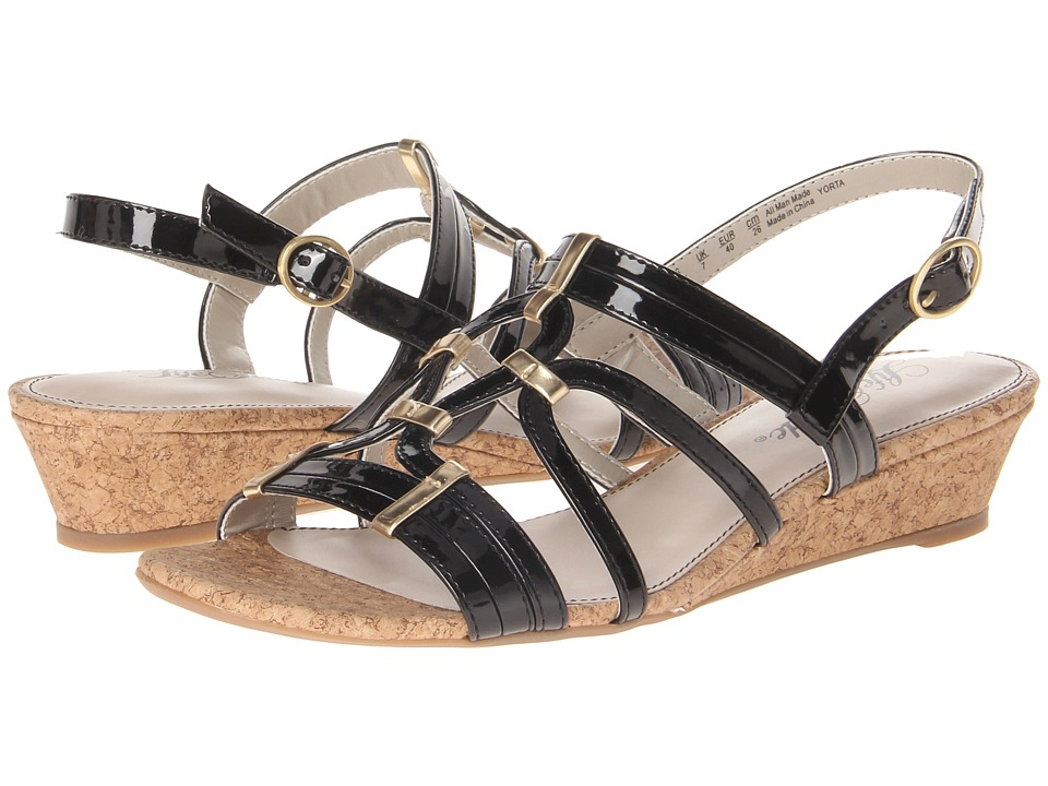 LifeStride - Yorta (Black/Gold Glow) Women's Sandals