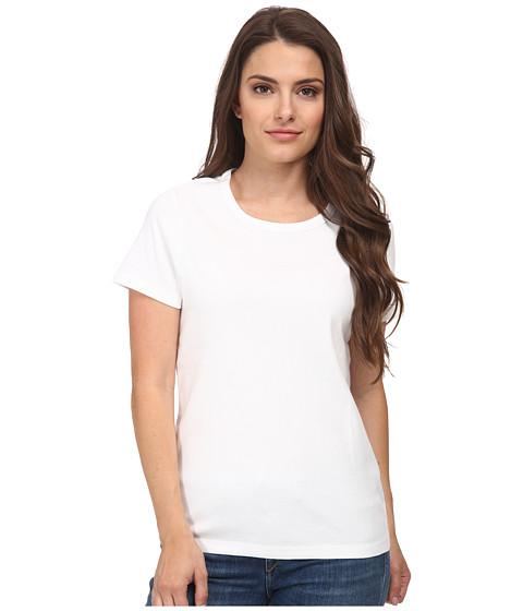 Pendleton - Petite S/S Rib Tee (White) Women's Short Sleeve Pullover