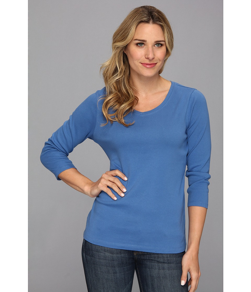 Pendleton - Three-Quarter Sleeve Rib Tee (New Blue) Women