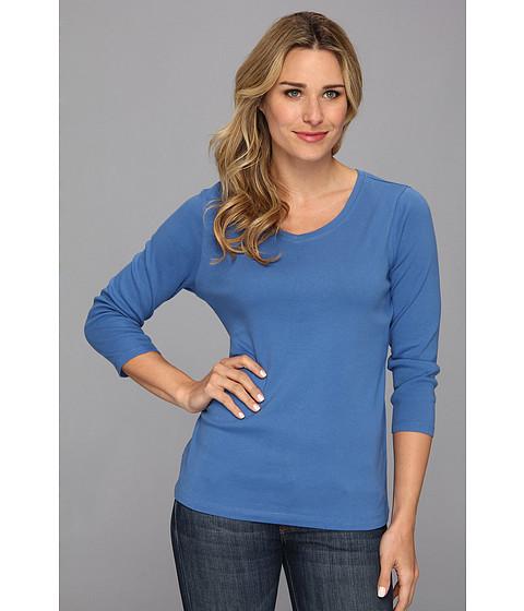 Pendleton - Three-Quarter Sleeve Rib Tee (New Blue) Women