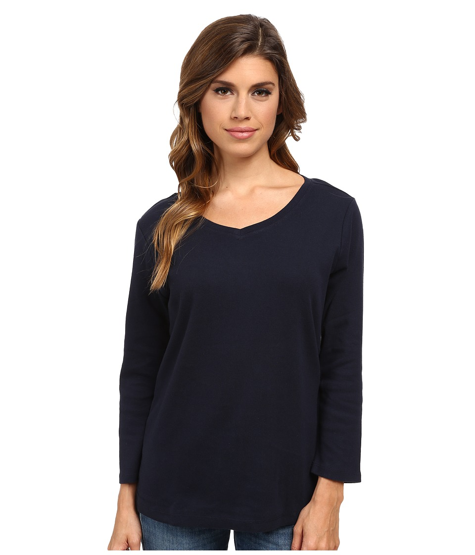 Pendleton - Three-Quarter Sleeve Rib Tee (Midnight Navy) Women