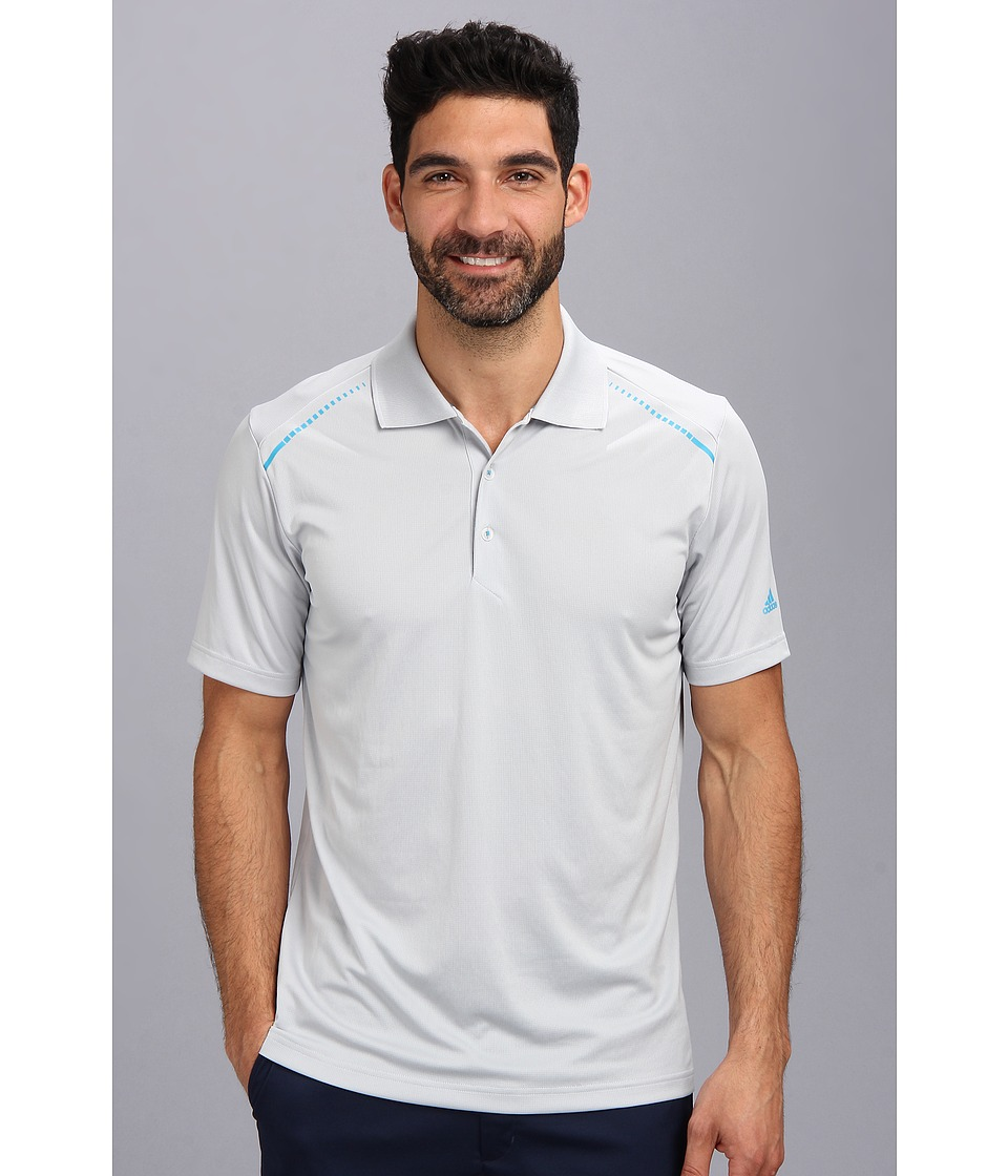 adidas Golf - CLIMACHILL Solid Polo '14 (Light Onix/Solar Blue) Men's Short Sleeve Pullover