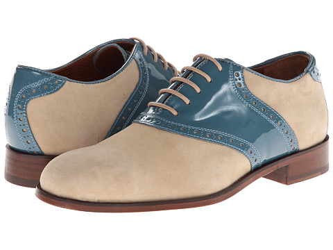 Florsheim by Duckie Brown - Saddle (Camel/Chalk Blue) Men's Shoes