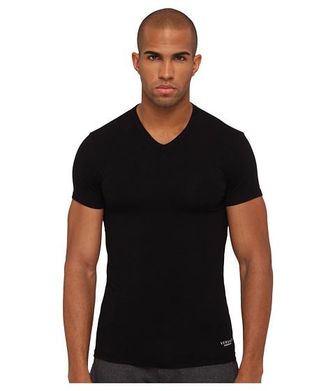 Versace - V-Neck Tee (Black) Men