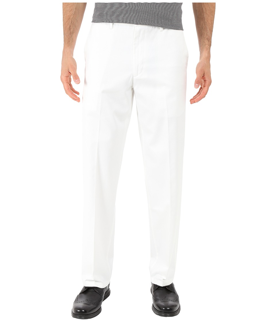 Dockers Men's - Signature Khaki D2 Straight Fit Flat Front (White) Men's Casual Pants