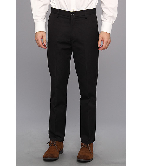 Dockers Men's - Signature Khaki D1 Slim Fit Flat Front (Wells Black Stripe) Men's Dress Pants