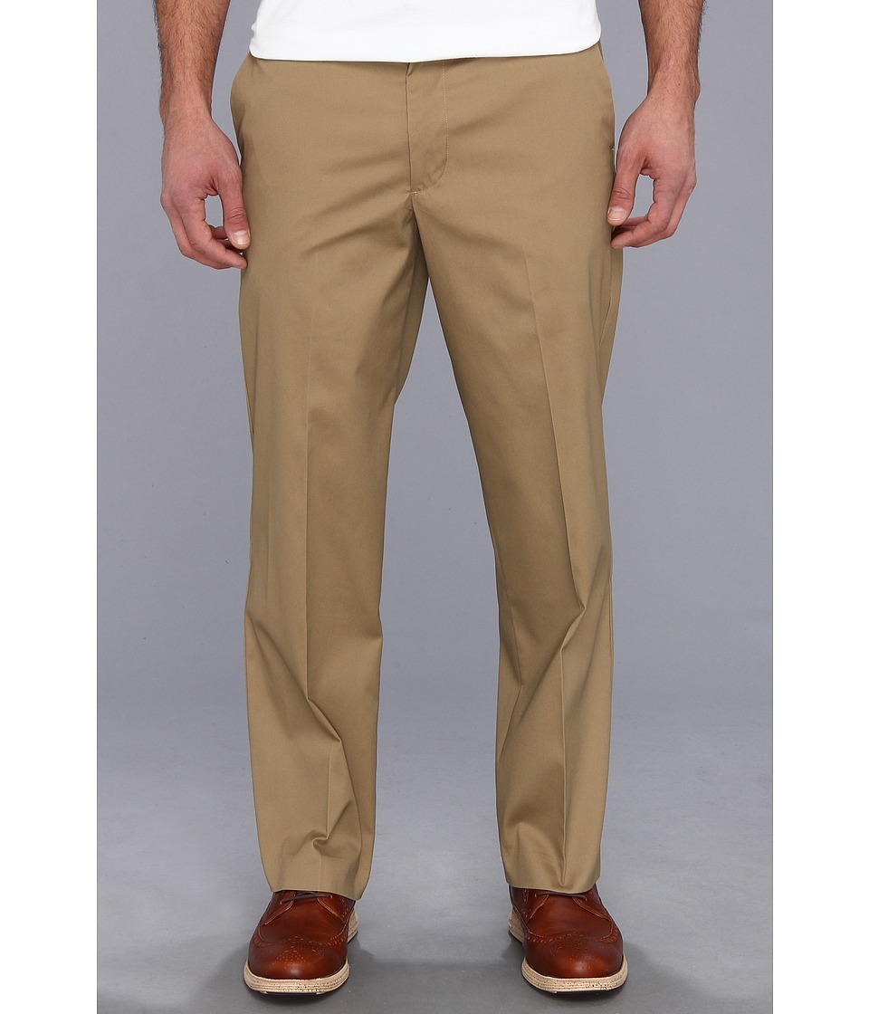 Dockers Men's - New Iron Free Khaki D2 Straight Fit Flat Front (Dark Wheat) Men's Casual Pants