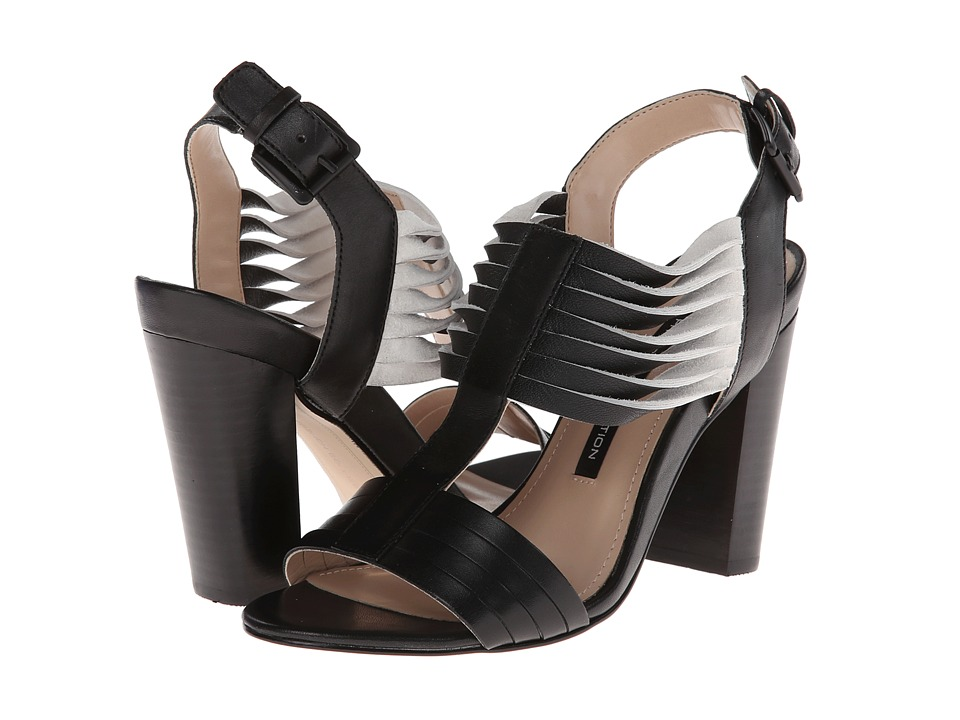 French Connection - Kamilla (Black/White) High Heels