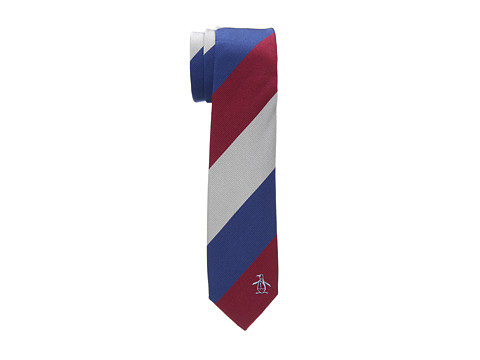 Original Penguin - Ocho Stripe Tie (Red) Ties