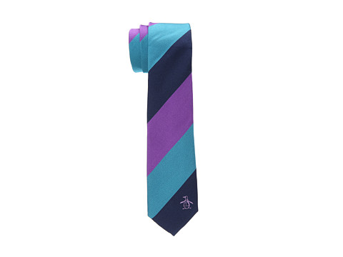 Original Penguin - Ocho Stripe Tie (Purple) Ties
