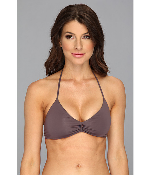 L*Space - Sensual Solids Strap Back Top (Pebble) Women's Swimwear