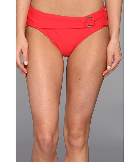 Body Glove - Smoothies Contempo Belted High Waist Bottom (Scarlet Red) Women