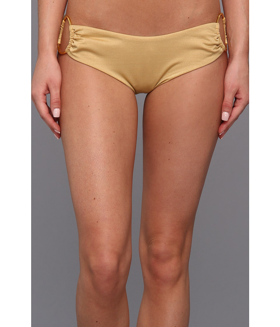 Body Glove - Red Carpet Sweetheart Low Rise Boy Leg Bottom (Gold) Women's Swimwear
