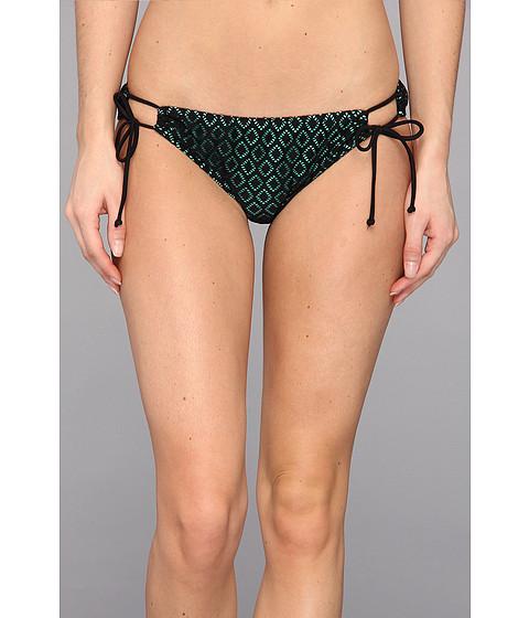 Body Glove - Diamonds Loop Surf Rider Bottom (Black) Women's Swimwear