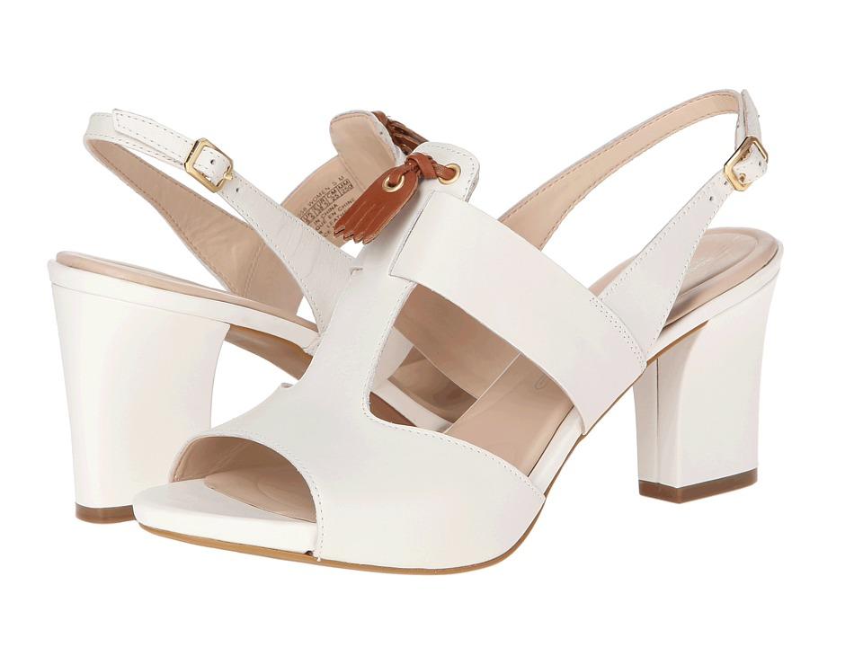 Rockport - Seven to 7 Mid Heel T-bar Tassle (Bright White) Women's Sandals