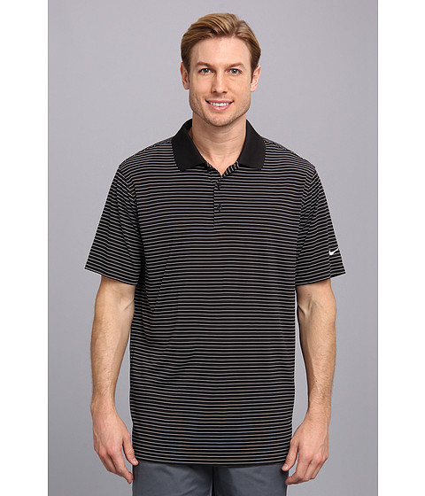 Nike Golf - Nike Victory Stripe Polo (Black/White) Men