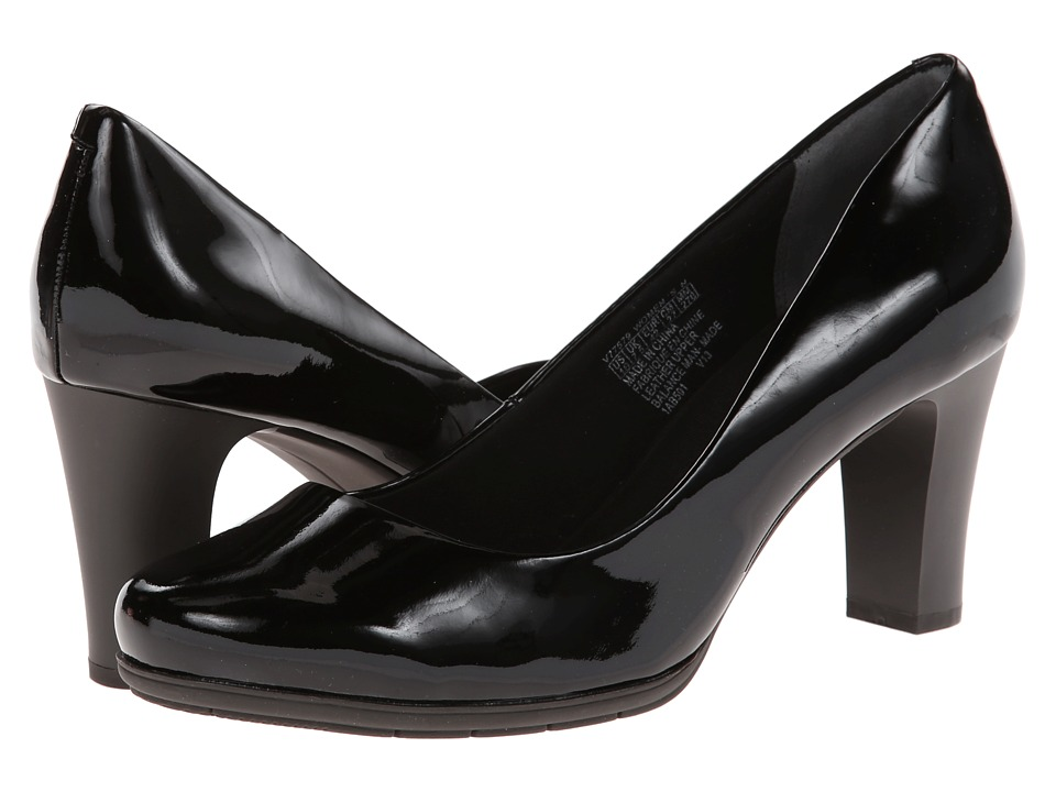 Rockport - Total Motion 75mm Plain Pump (Black Patent) High Heels