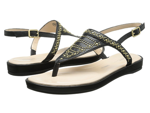 Rockport - Jaeliah Stud Thong (Black) Women's Sandals