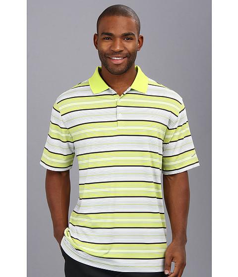 Nike Golf - Key Stretch UV Stripe Polo (Venom Green/Metallic Silver) Men's Short Sleeve Knit