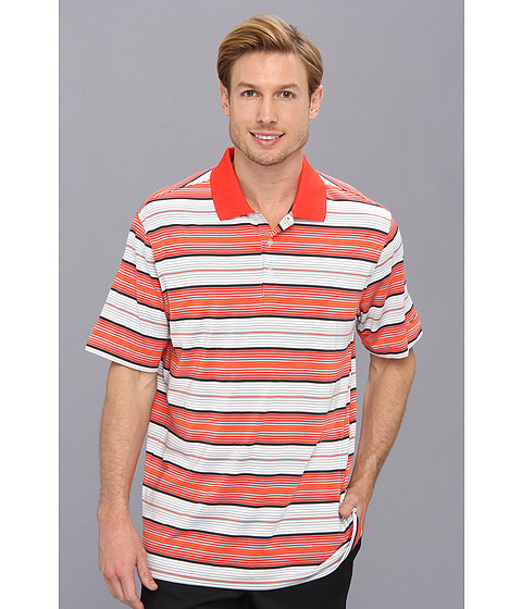 Nike Golf - Key Stretch UV Stripe Polo (Light Crimson/Metallic Silver) Men's Short Sleeve Knit