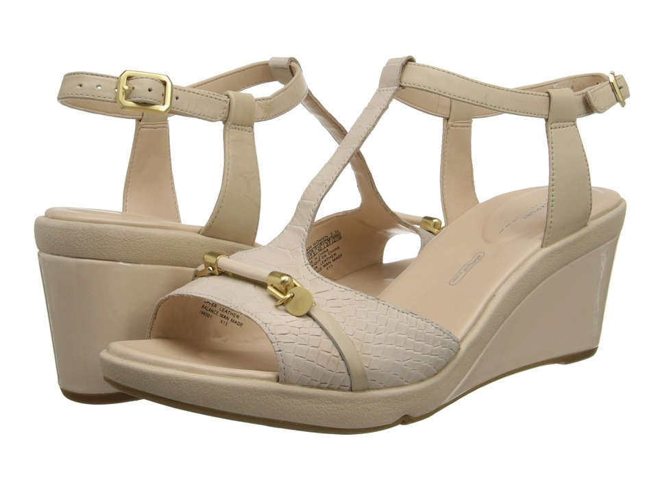 Rockport - Emmalina Charm T Strap (Bleached S) Women's Sandals