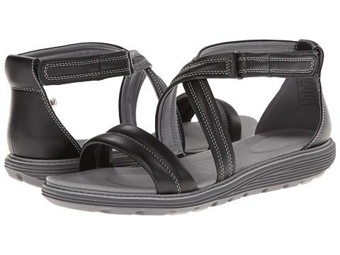 Rockport - TruWALKzero Low Sandal Padded Ankle (Black) Women's Sandals
