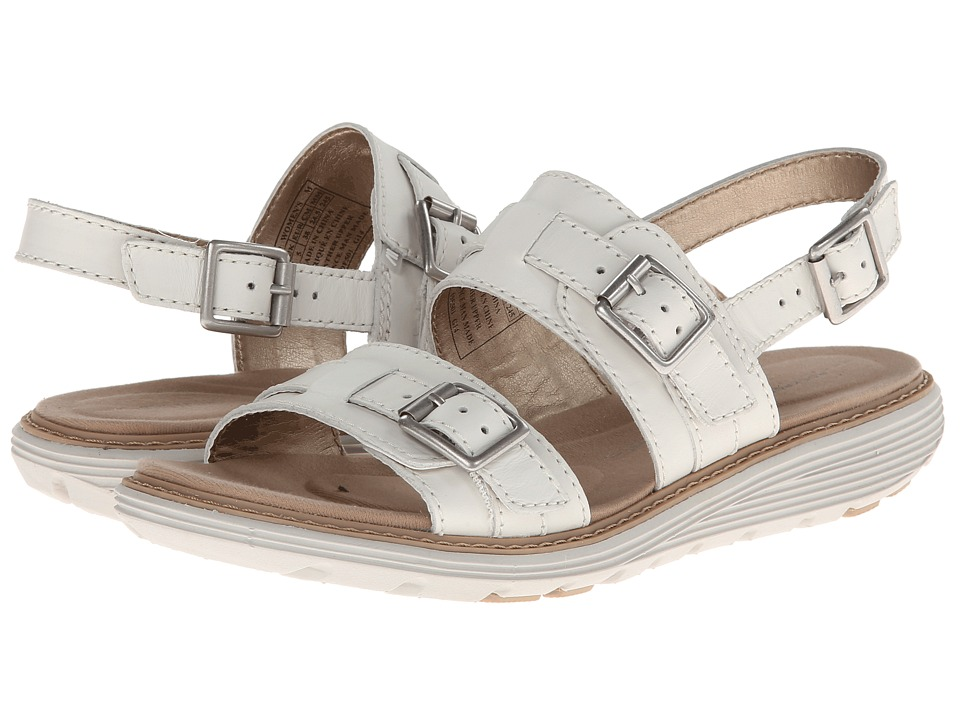 Rockport - TruWALKzero Low Sandal Buckle 2 Band (Bright White) Women's Sandals
